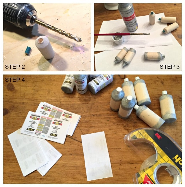 steps to making mini spray paint cans