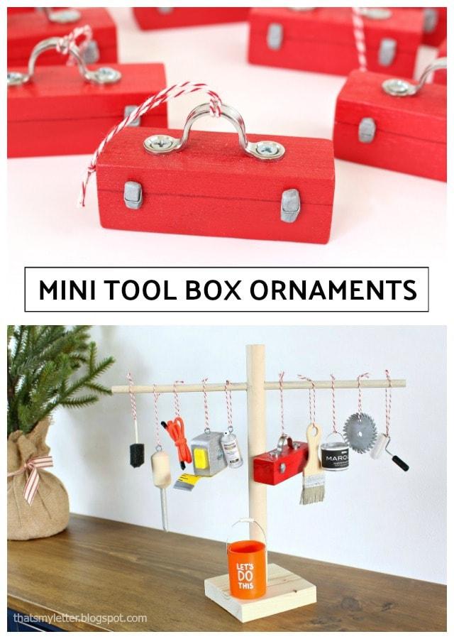 diy mini toolbox ornaments
