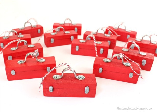 mini toolbox ornament