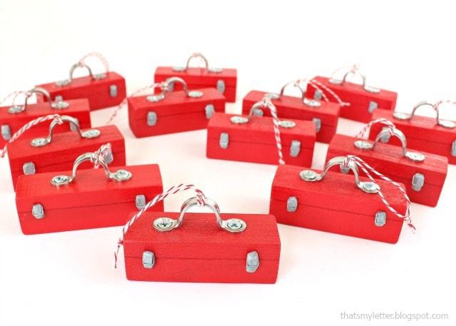 mini toolbox ornaments