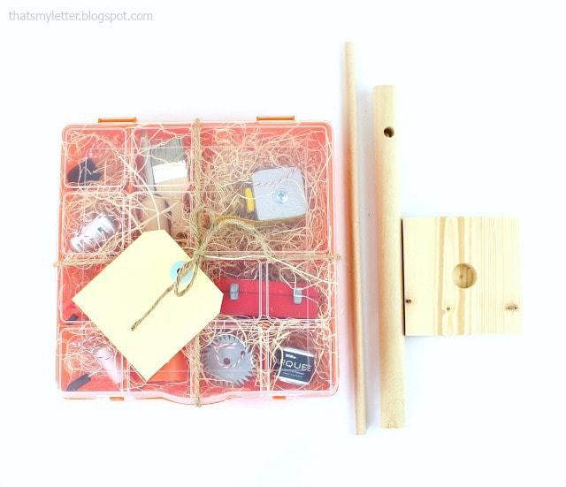 diy miniature tool tree packaged