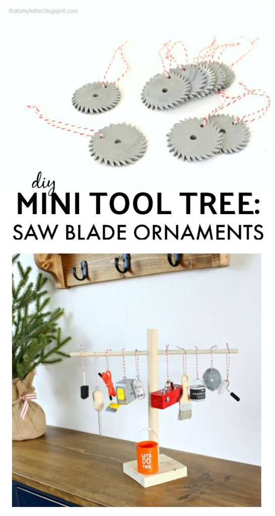 diy mini tool tree saw blade ornaments