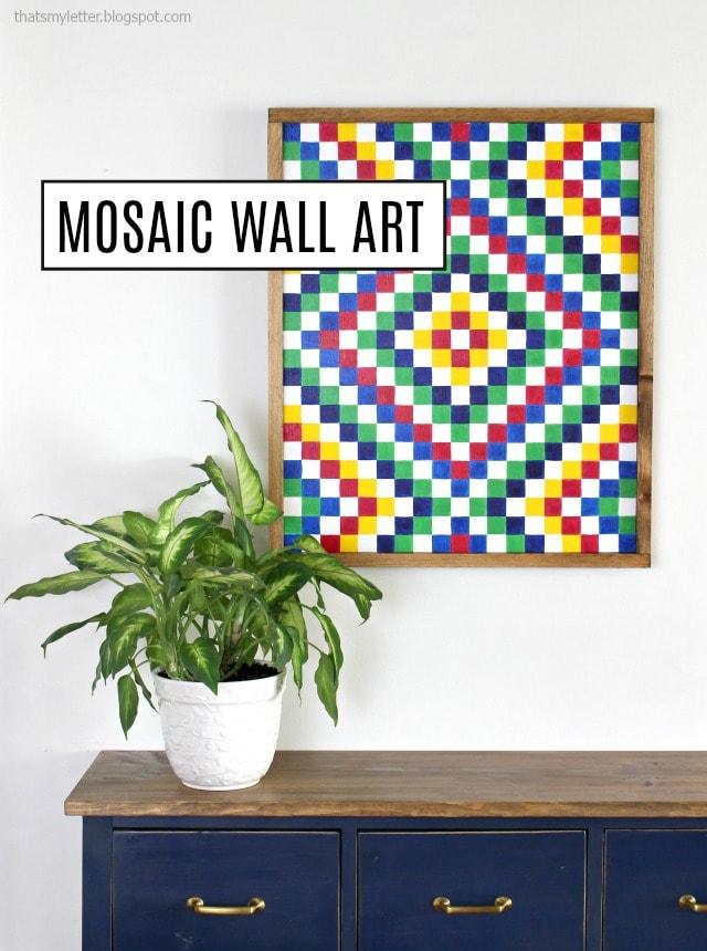 diy mosaic wall art