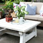 Painted Coffee Table with Vintage Effect Wash