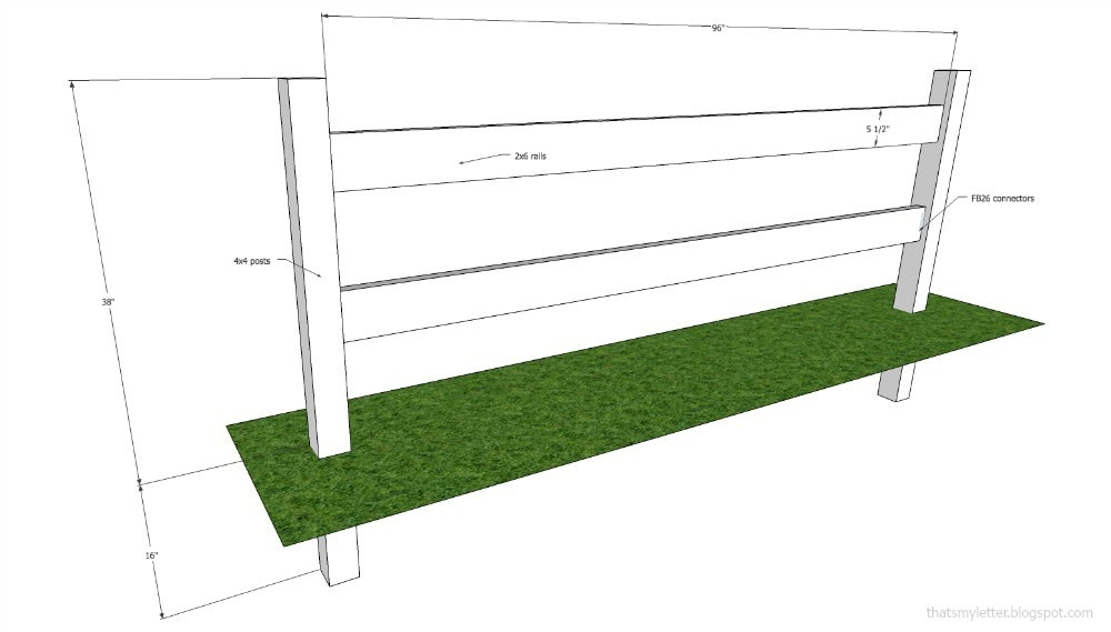 split rail fence dimensions