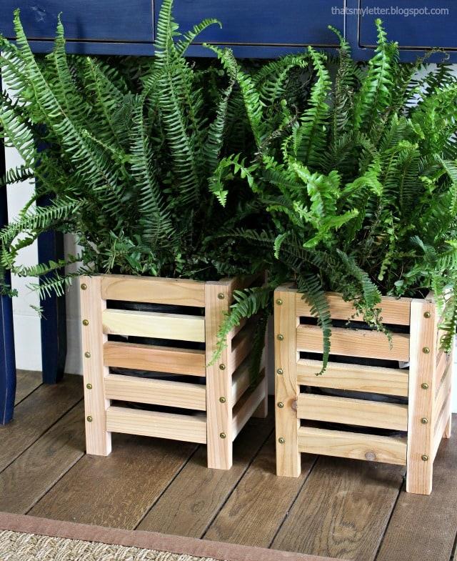 cedar scrap wood planter