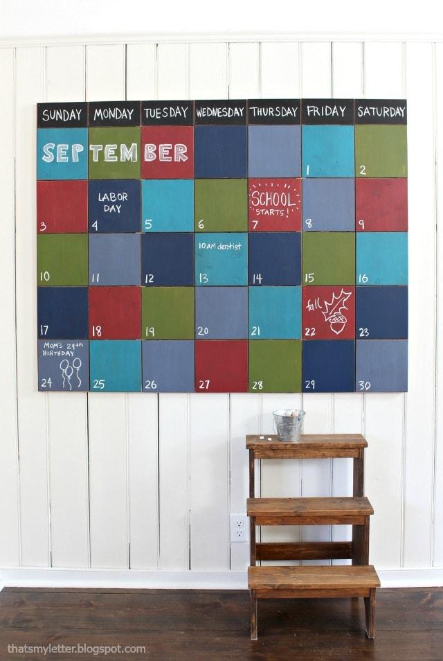 large chalkboard wall calendar