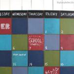 DIY Chalkboard Wall Calendar