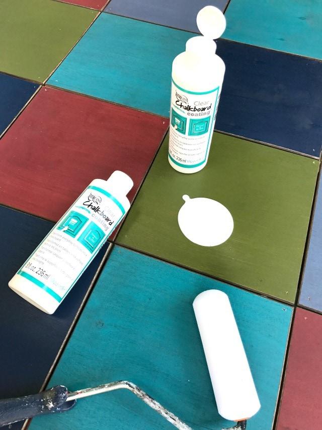 apply clear chalkboard coating