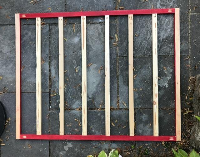 wood frame for calendar