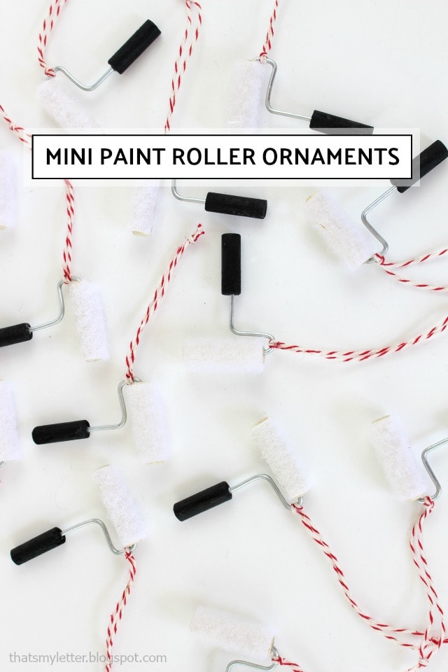 mini paint roller ornaments