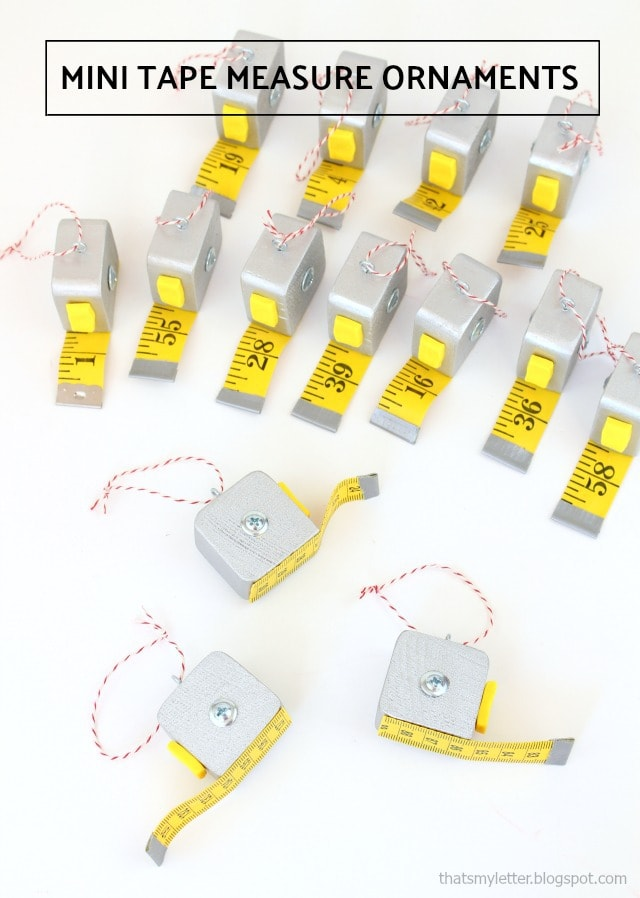 mini tape measure ornaments