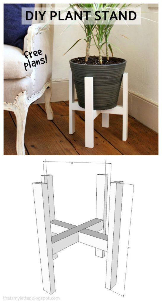 diy plant stand free plans
