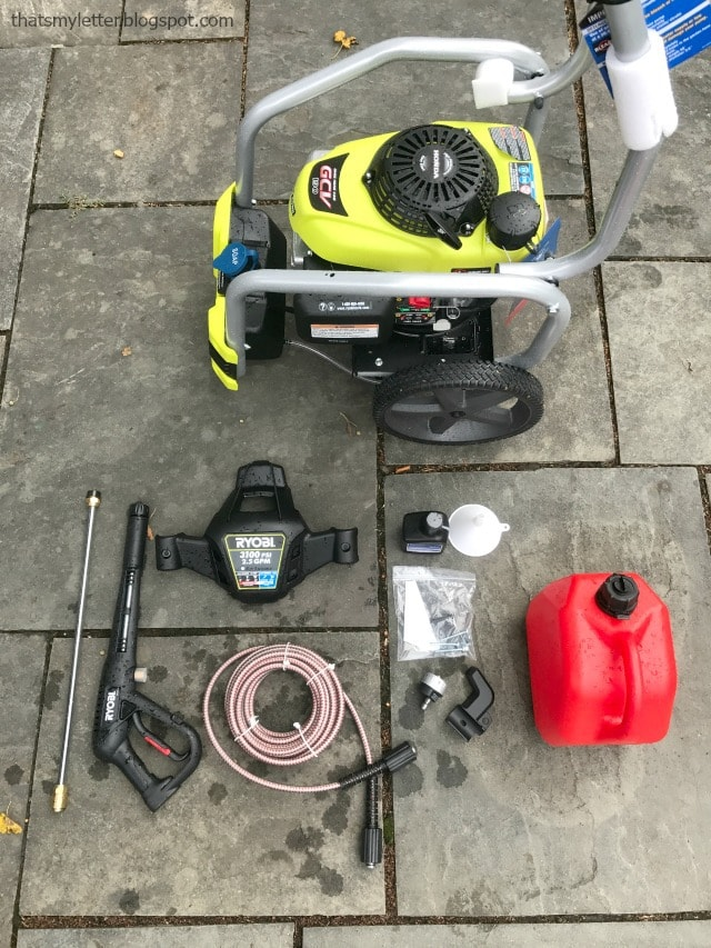 ryobi 3100 gas pressure washer out of box