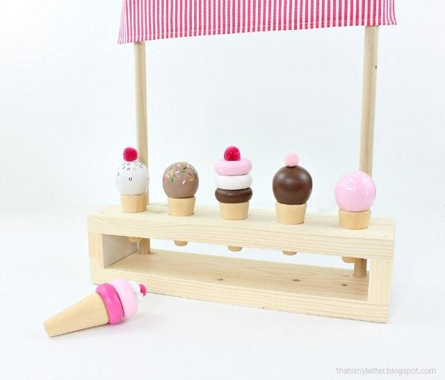 tabletop ice cream parlor