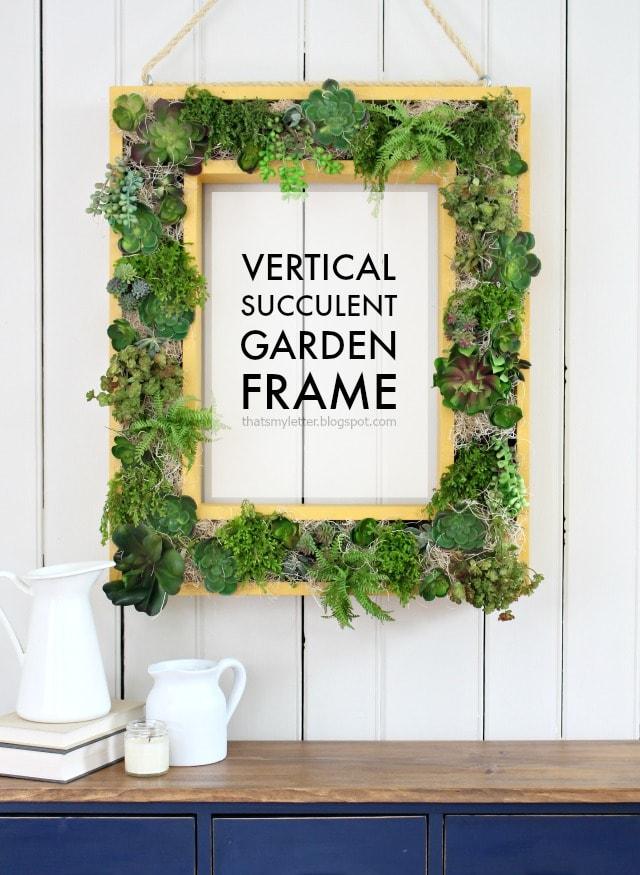 diy vertical succulent garden frame