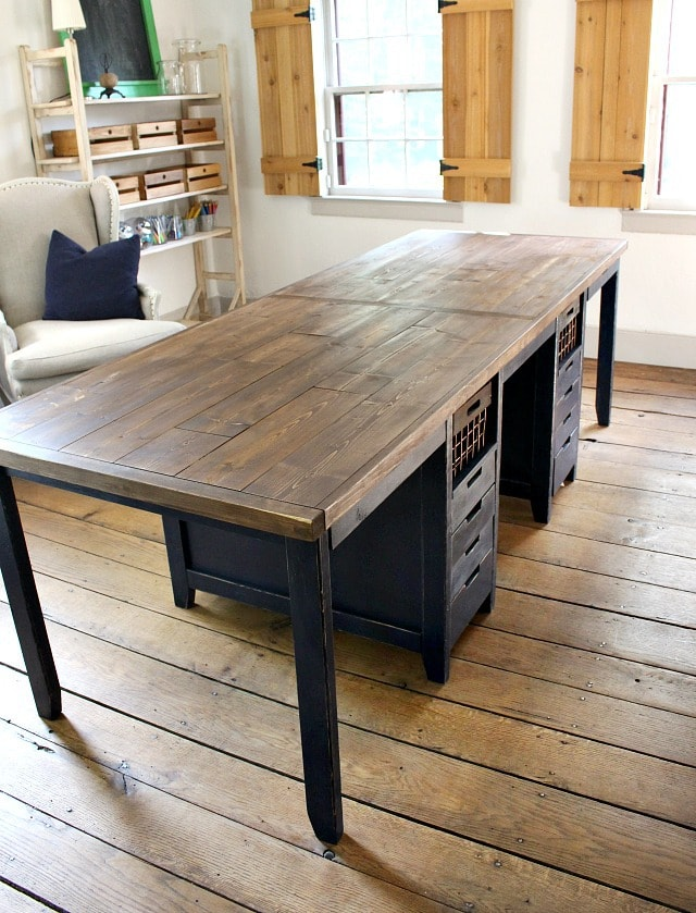 multipurpose work table with storage