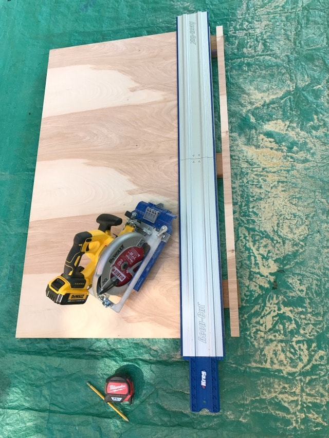 Kreg accu-cut guide cutting plywood