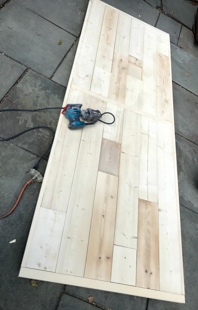 sanding table top