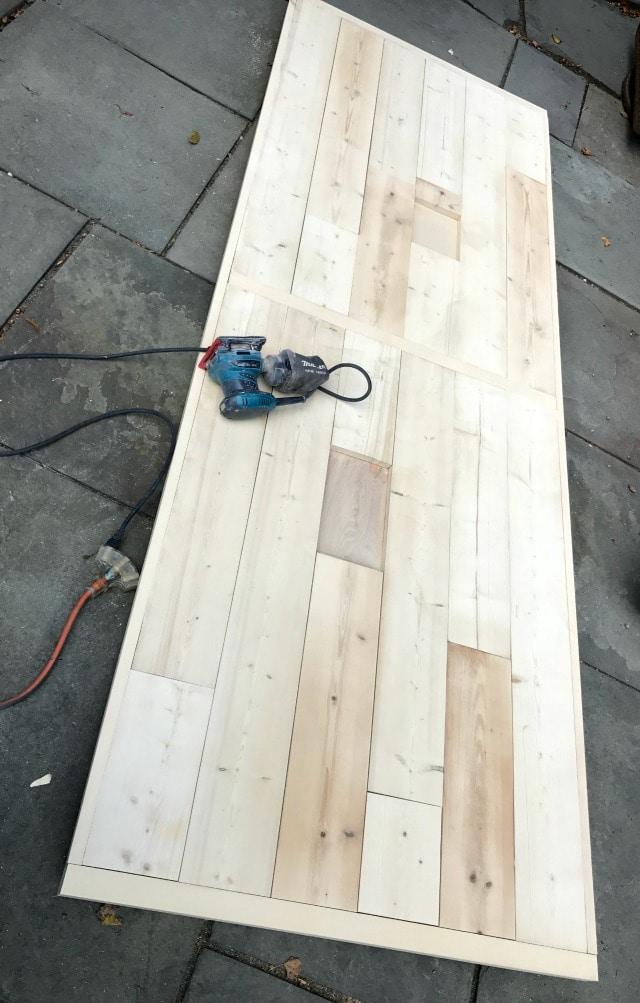 sanding table top