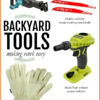 Backyard Tools Making Work Easy