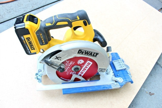 dewalt cordless circular saw with sled