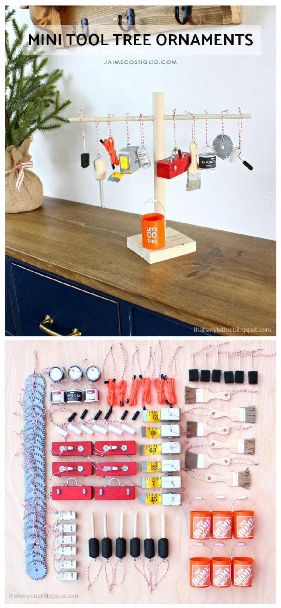 diy mini tool ornaments free plans