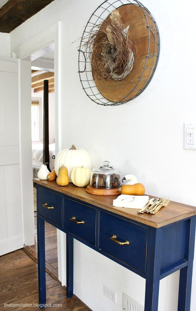 dining room small sideboard fall decor