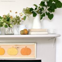 fall home tour living room mantel