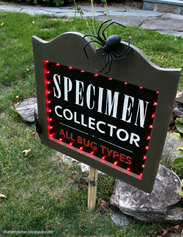 diy specimen collector yard sign