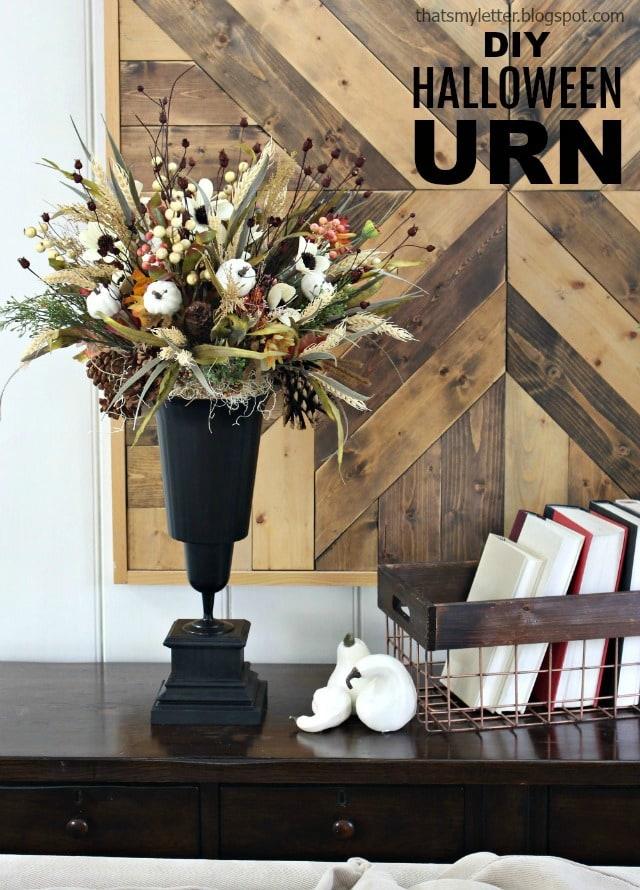 diy Halloween urn style vase