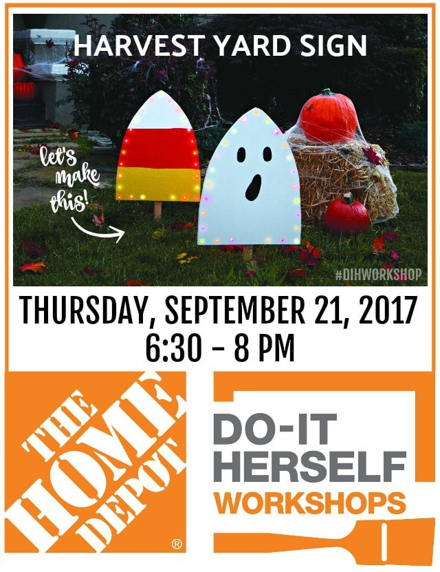 harvest yard sign DIH Workshop at The Home Depot
