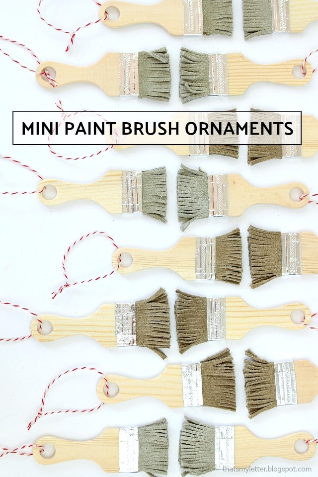 mini paint brush ornament