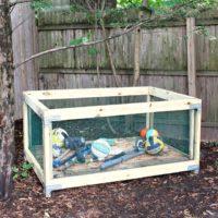 DIY Outdoor Toy Storage Bin