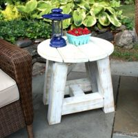 Truss Beam Side Table Free Plans