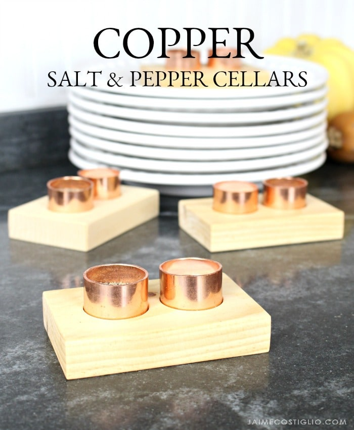 diy copper salt and pepper cellars