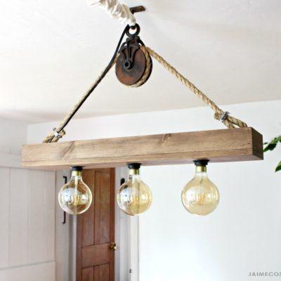 DIY Hanging Light Fixture