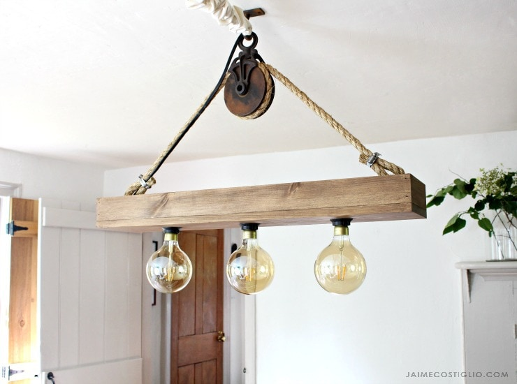 DIY Hanging Light Fixture - Jaime Costiglio