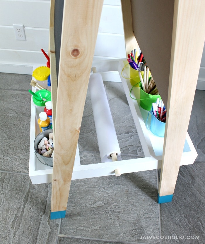 easel for kids paper roll