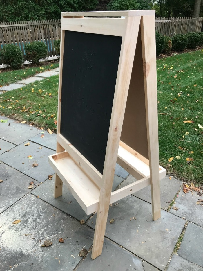 easel for kids natural wood