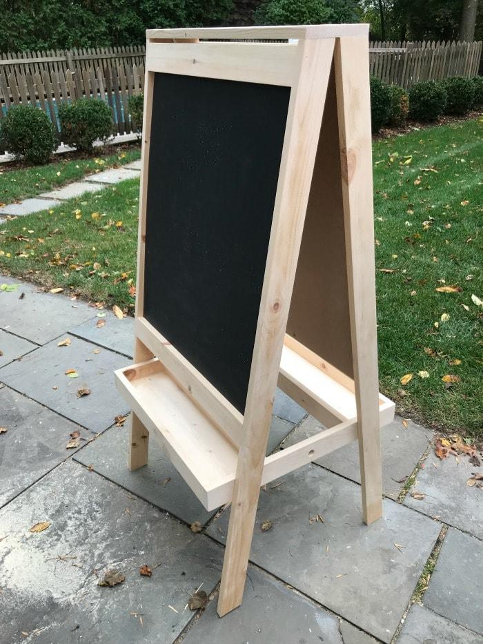 easel for kids natural wood
