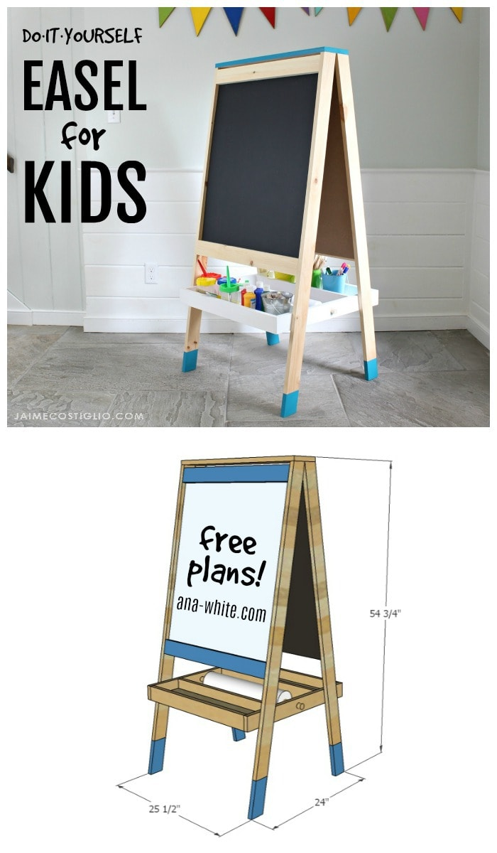 easel for kids collage