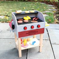 diy kids play grill free plans