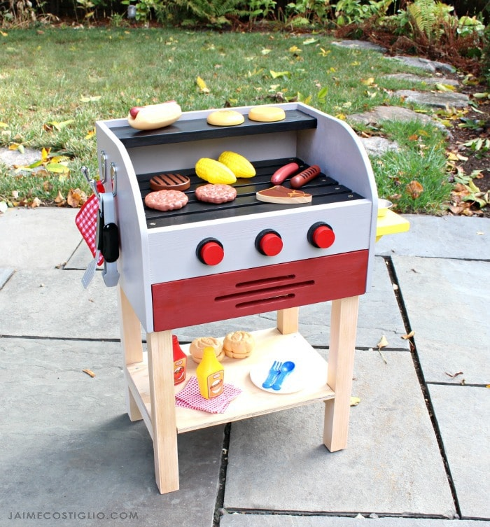diy kids play grill free plans