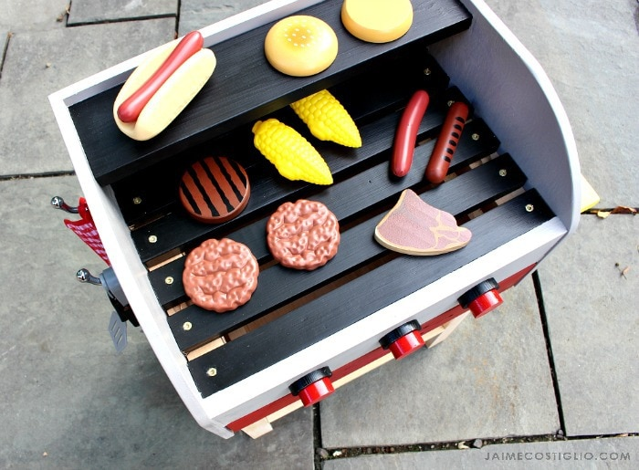 kids play grill surface