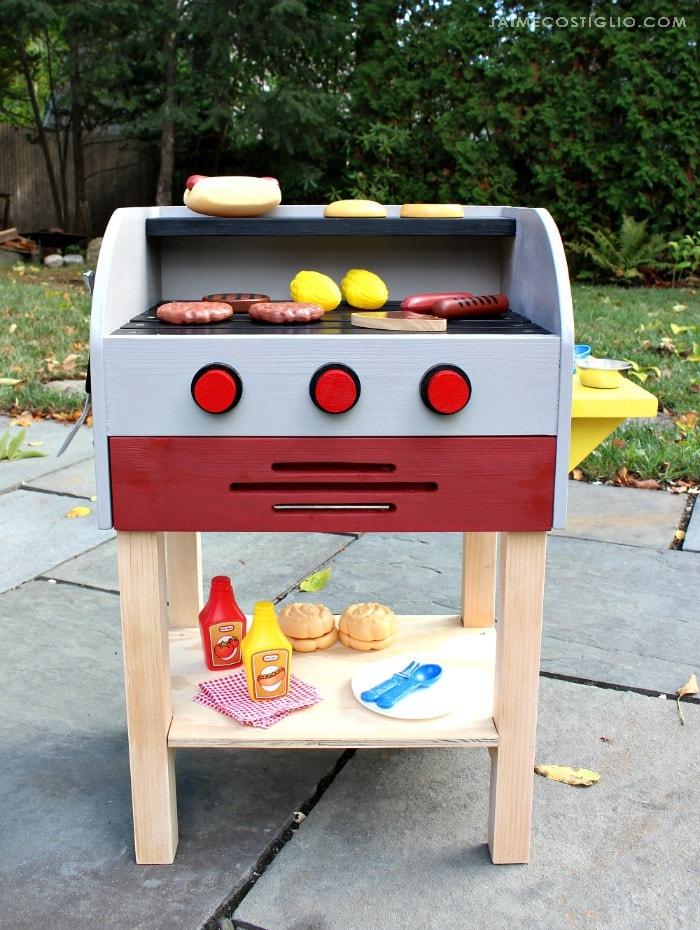 diy kids play grill