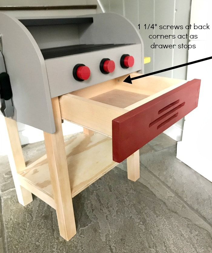 kids play grill drawer stops