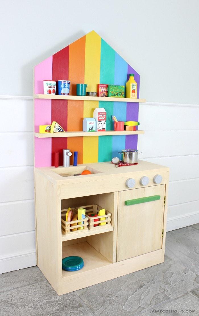 diy play kitchen with storage