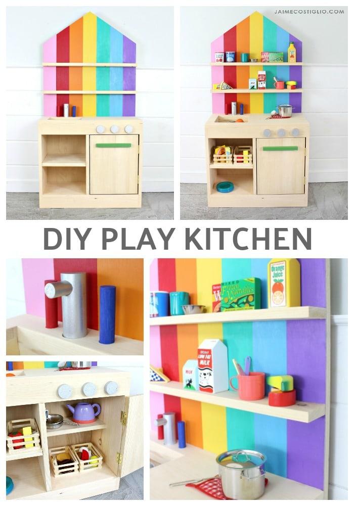 diy play kitchen collage