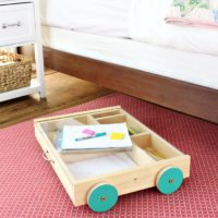 DIY Art Trundle Cart